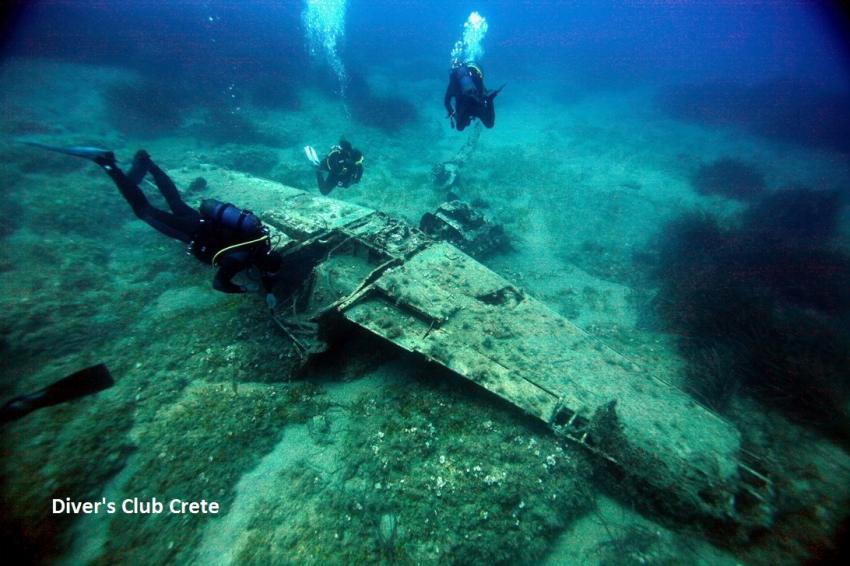 Messerschmitt Wreck, Wreck Diving, Divers Club Crete, Agia Pelagia, Kreta, Griechenland