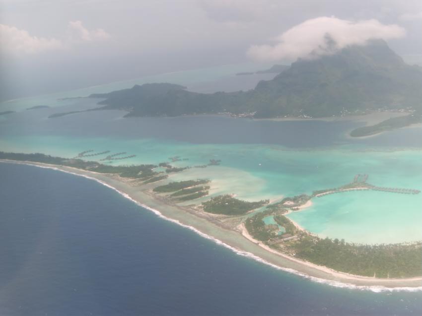Tauchen auf Bora Bora Tauchplatz TAPO, Bora Bora,Französisch-Polynesien,Insel,Vogelperspektive