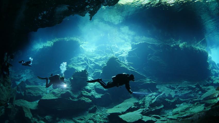 Cenote, Höhlentauchen, Deep Dive Mexico, Mexiko