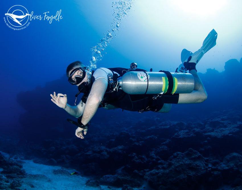 Wir lieben Sidemount tauchen in Mauritius, Nitrox, Tauchen, TEC Diving Mauritius, Mauritius