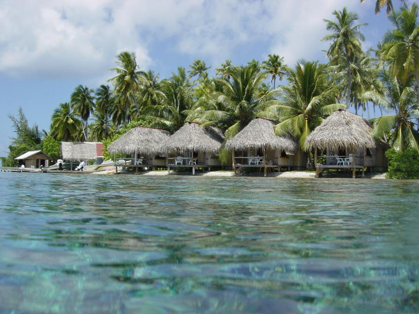 Tuamotos (Fakarava, Kauehi, Tahanea, Toau) mit Katamaran Aquatiki, Tuamotos,Französisch-Polynesien,Pension,Fakarava,hütten,strand