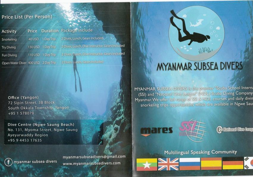 Prospekt S1, Myanmar Subsea Divers, Myanmar