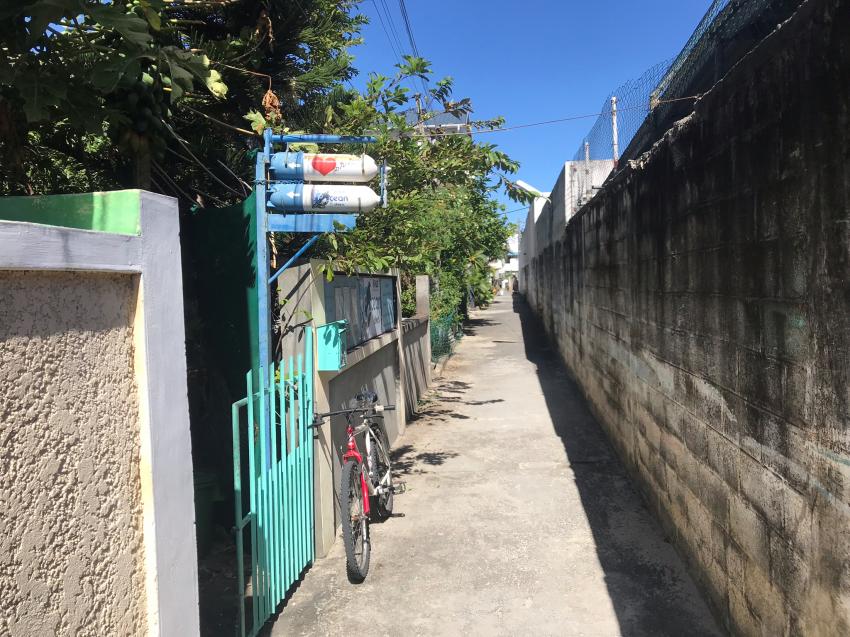 Zugang zur Basis, Ocean Divers, Flic en Flac, Mauritius