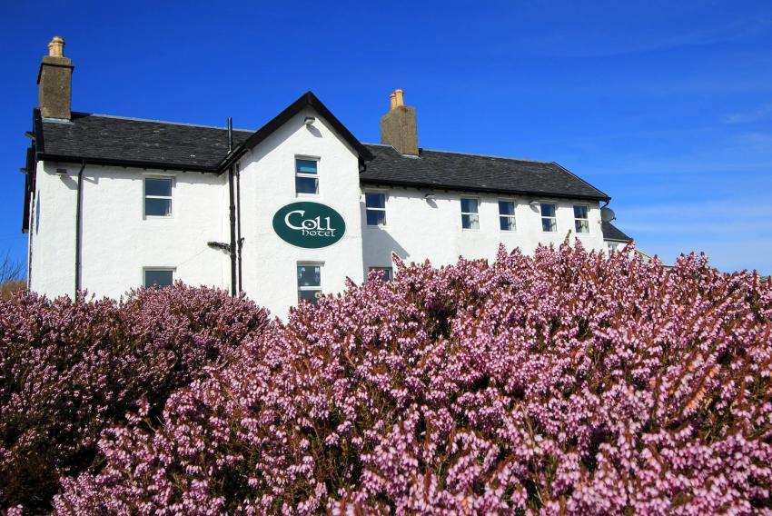 The Coll Hotel, Coll, Hotel, Arinagour, Schottland, Hebriden, Coll Hotel, Großbritannien