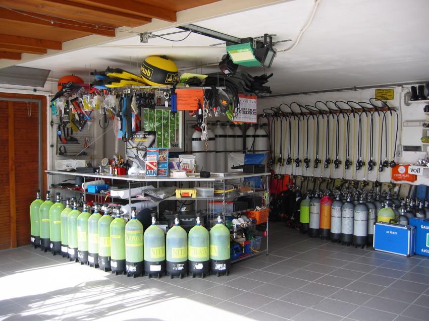 Unsere Tauchflaschen, Tauchschule Nautilus, Bodnegg, Deutschland, Baden Württemberg
