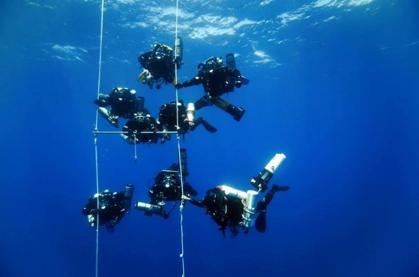 Deco Station, Deco Stopp, tec diving, wreck, Orso Diving Club (Sardinien), Italien, Sardinien