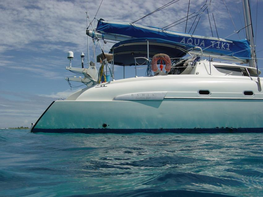 Tuamotos (Fakarava, Kauehi, Tahanea, Toau) mit Katamaran Aquatiki, Tuamotos,Französisch-Polynesien,Aqua Tiki,tauchboot