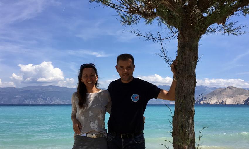 Marco und Steffi, deutschsprachige Leitung, Squatina Diving, Baska, Insel Krk, Kroatien