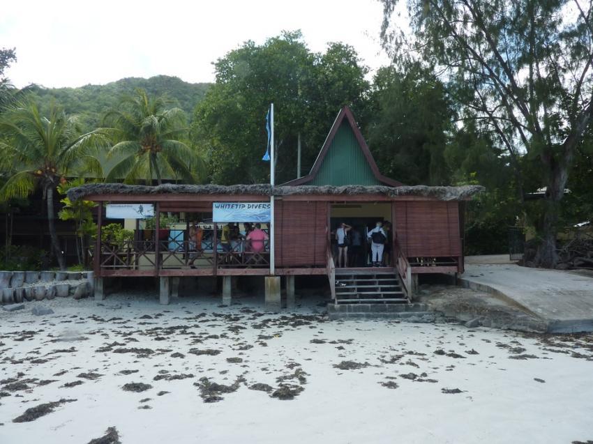 Die Tauchbasis, Whitetip Divers, Praslin, Seychellen