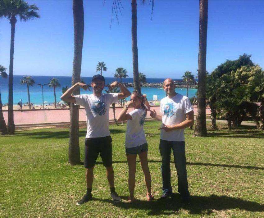 James, Sophie, Roman, Leagues Ahead Diving, Maspalomas , Spanien, Kanaren (Kanarische Inseln)