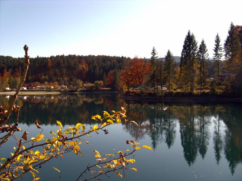 Walchensee, Einsiedl (Bucht), Walchensee. Einsiedl,Bayern,Deutschland,bucht,herbst,stimmung