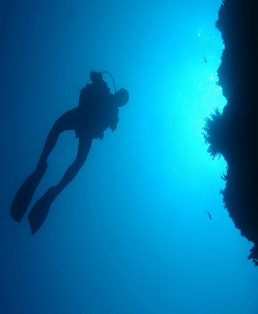 Nautic-Dive, Lanzarote, Spanien, Kanarische Inseln, taucher, gegenlicht