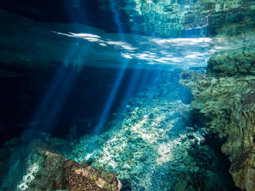 Cueva TAINA, Underwater-Emotions, Boca Chica, Dominikanische Republik
