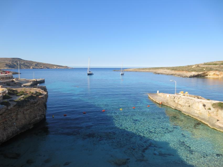 San Niklaw Bay direkt am Hotel und Tauchbasis, Comino Dive Center by Diveshack, Comino, Malta, Comino
