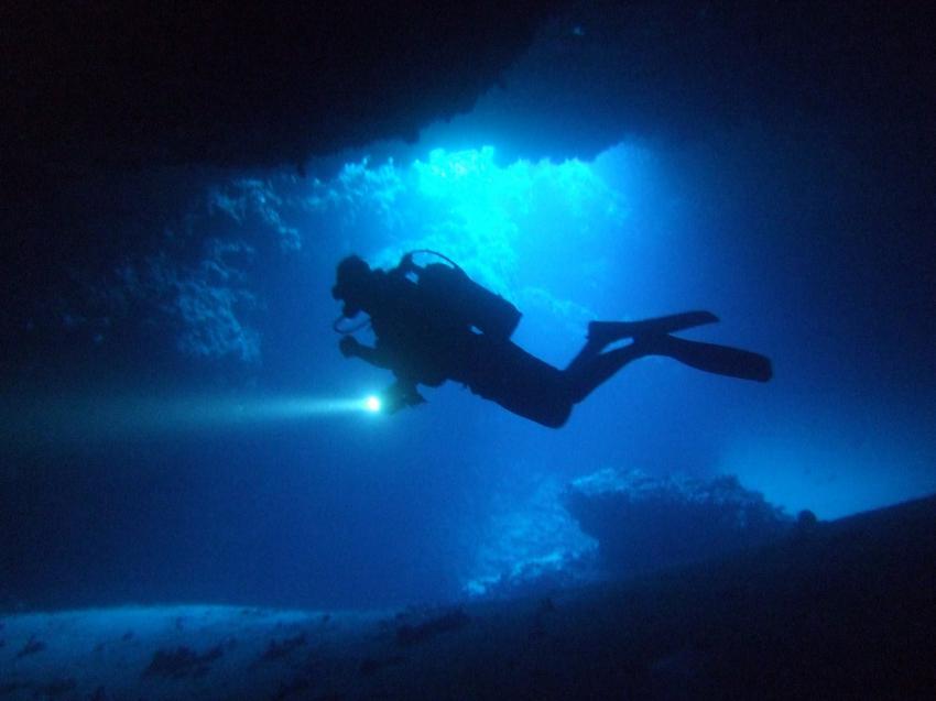 Höhlentauchen in Lindos/Wracktauchen in Plimiri, Rhodos,Griechenland,Höhlentauchen