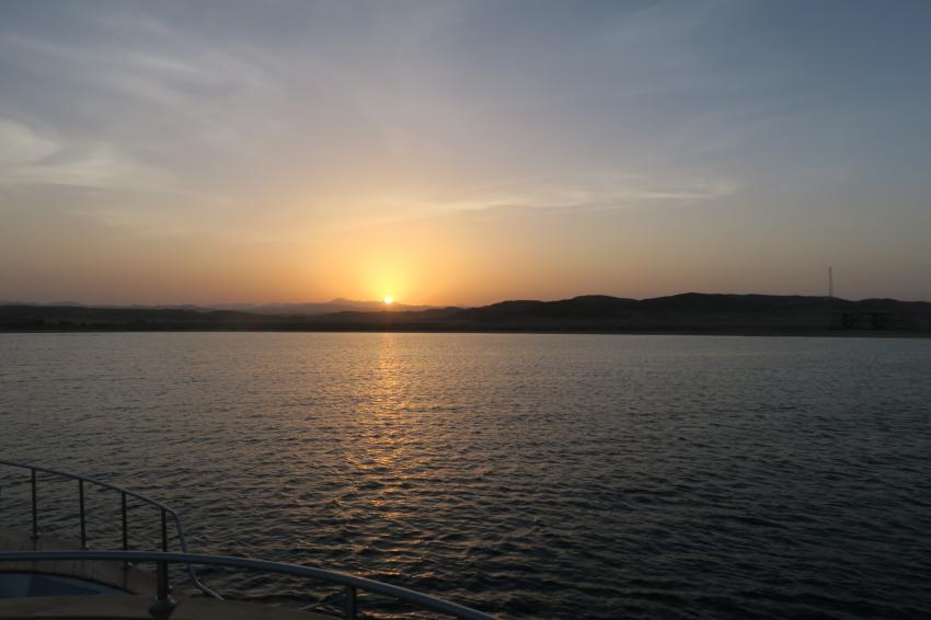 Sonnenuntergang Marsa Alam, Hany Dolphin Blue, Ägypten, Safaga