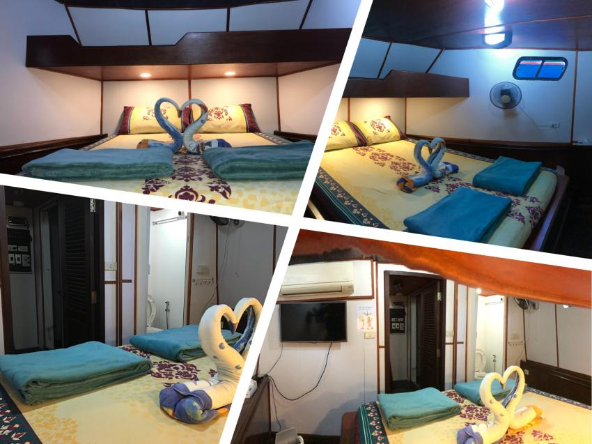 Master Cabin, Miss Moon, AIDC Andaman International Dive Center, Ranong, Thailand, Andamanensee