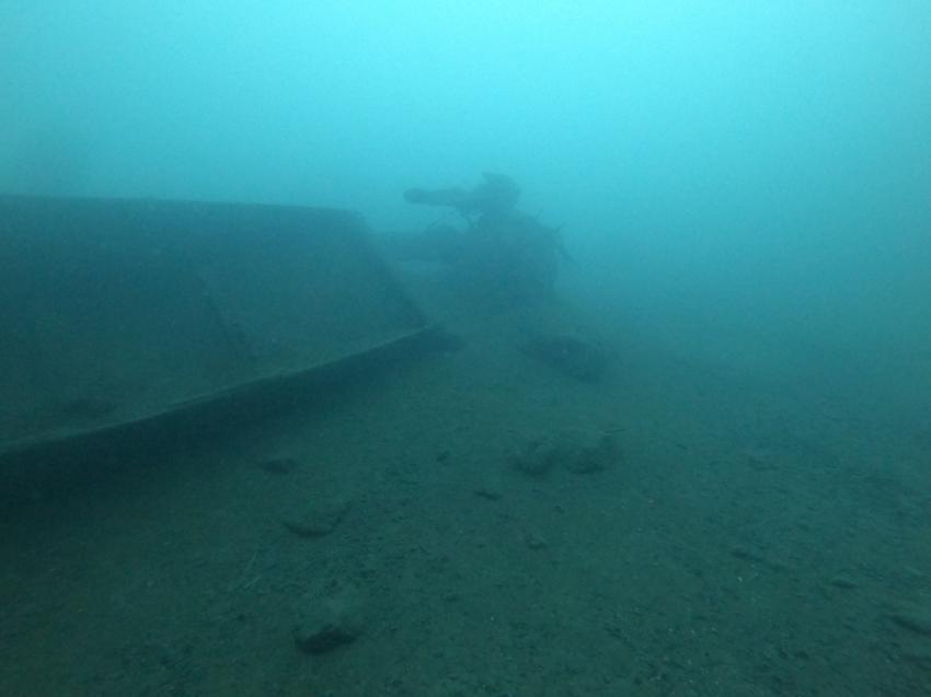 Ruderbootwrack, Broder, Mols, Schweiz