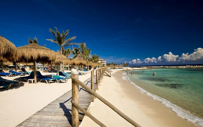 Strandabschnitt, Pro Dive Mexico, Catalonia Riviera Maya & Yucatan Beach, Puerto Aventuras, Mexiko