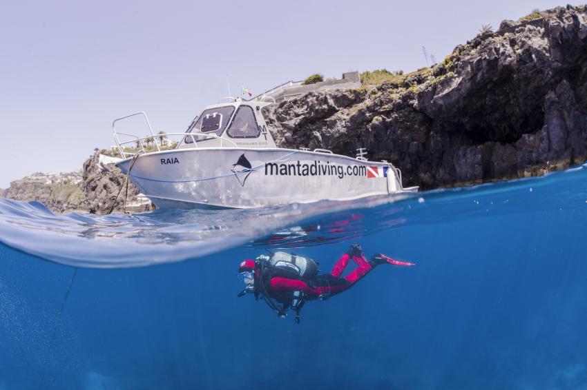 Alluminium Speed Boat, Manta Diving Madeira, Caniço de Baixo , Portugal, Madeira