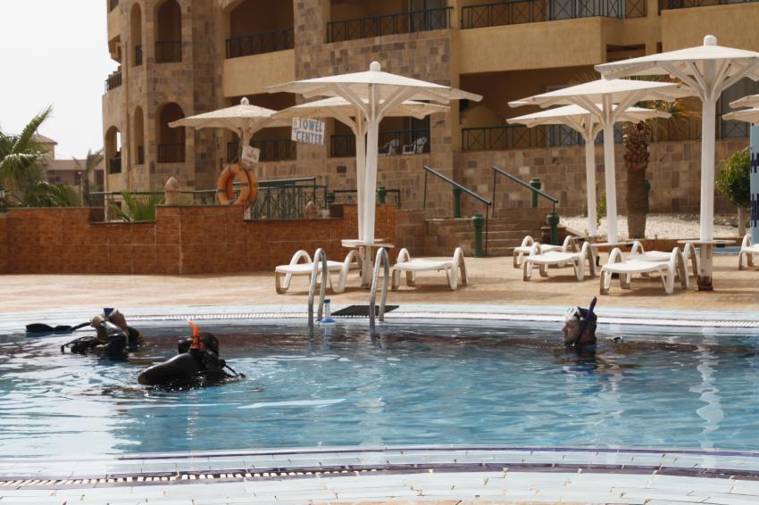 Übungen im Pool..., Euro-Divers, Utopia Beach, Ägypten, El Quseir bis Port Ghalib
