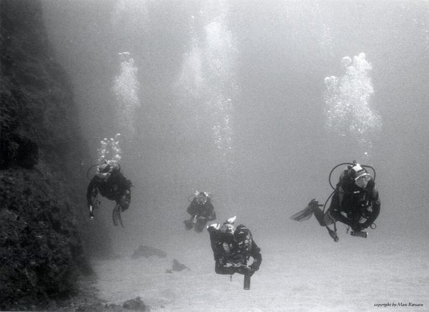 Kas allgemein, Kas,lykische Küste,Türkei,Taucher,schwarz weiss