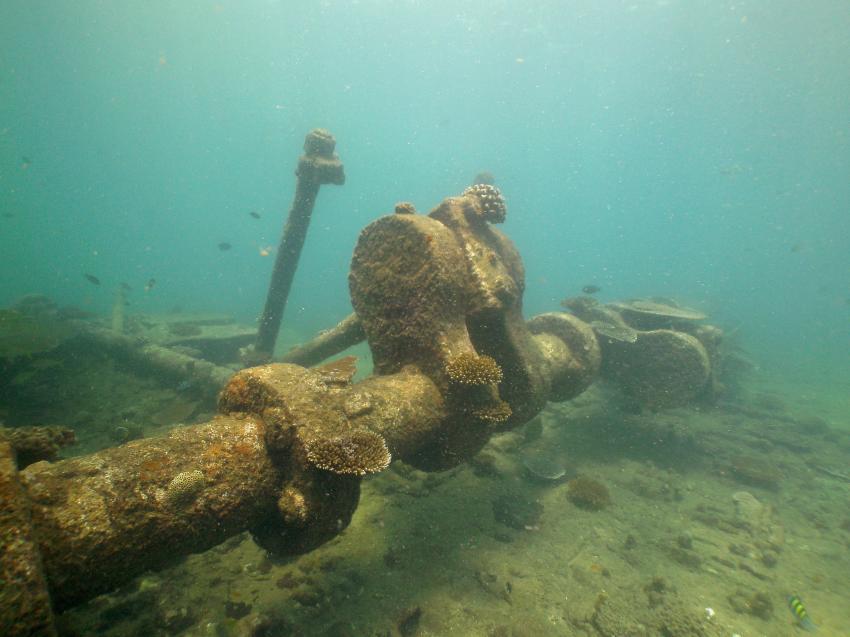 am Boilerwrack, LSR Diving Passikuda, Sri Lanka