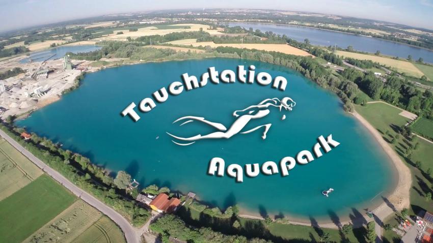 Vogelperspektive, Tauchstation Aquapark, Moosburg, Deutschland, Bayern