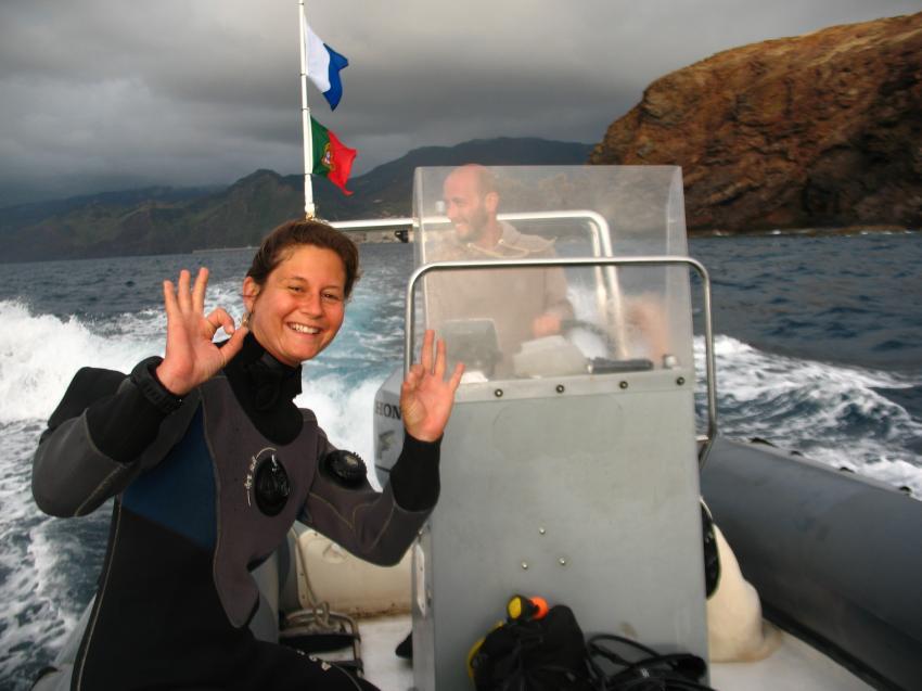 Ester und Marco - immer gut gelaunt!, Azul Diving Madeira, Portugal
