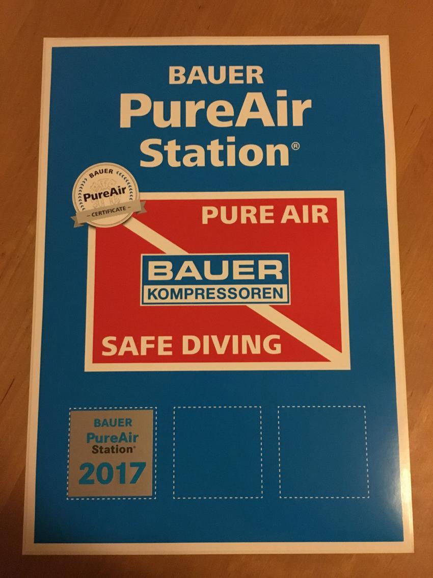 PureAir Zertifikat 2017, Tauchteam Bodensee, Bodensee, Deutschland, Baden Württemberg
