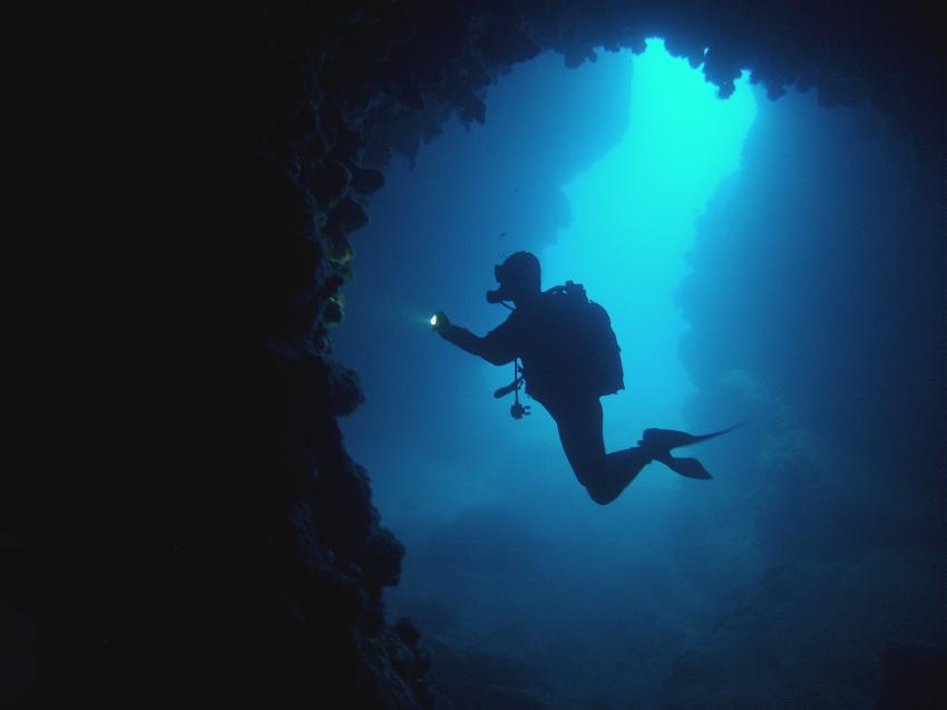 Höhlentauchen, Oasi-Sub, Lakka, Paxos, Griechenland
