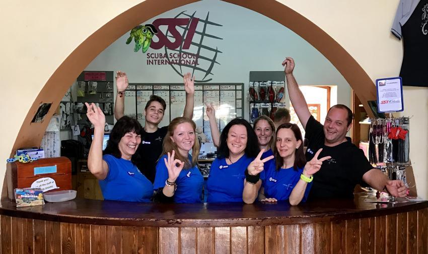 Reception Team, Coraya Divers, Coraya Beach, Marsa Alam, Ägypten, Marsa Alam und südlich