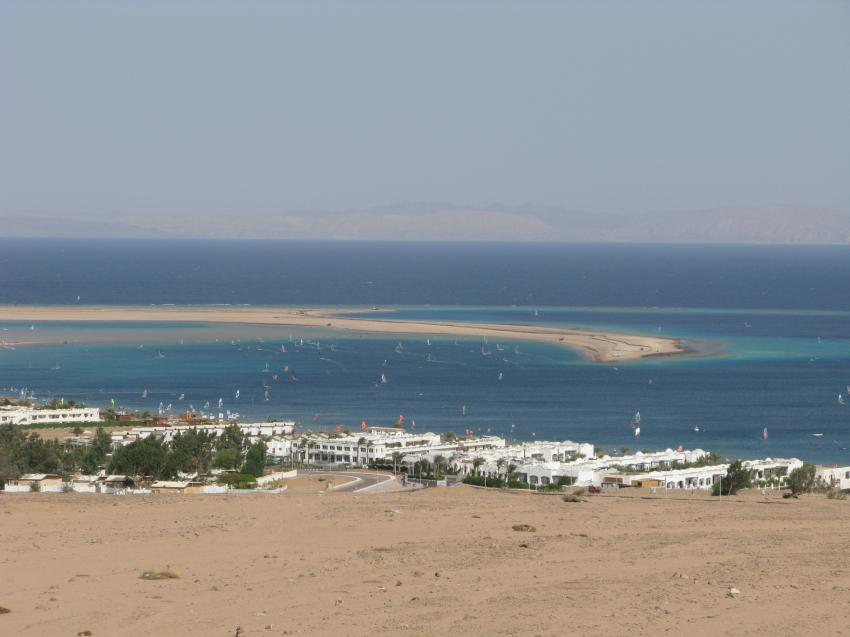 Dahab Lagune Hot spot für Kite -und Windsurfer, Sinai Divers, Backpackers DC, Dahab, Ägypten, Sinai-Nord ab Dahab