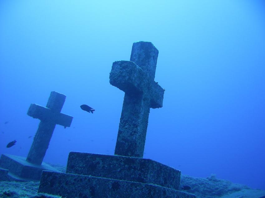 Missionars-Gedenkstätte, La Palma Punta Malpique,Spanien,Kreuze,Mahnmal,Friedhof,Kreuz
