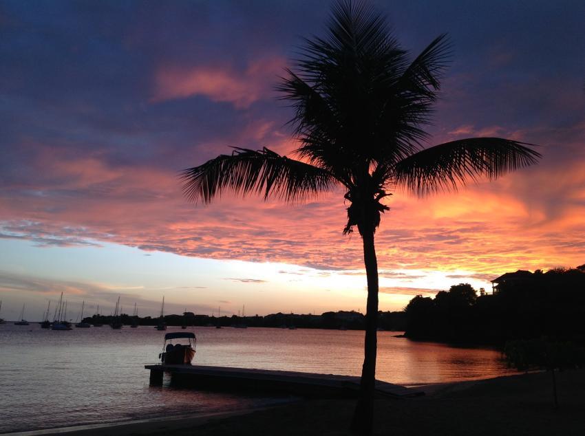 Sonntenuntergang in Prickly Bay, ScubaTech, Scuba Tech, Lance aux Epines, Grenada