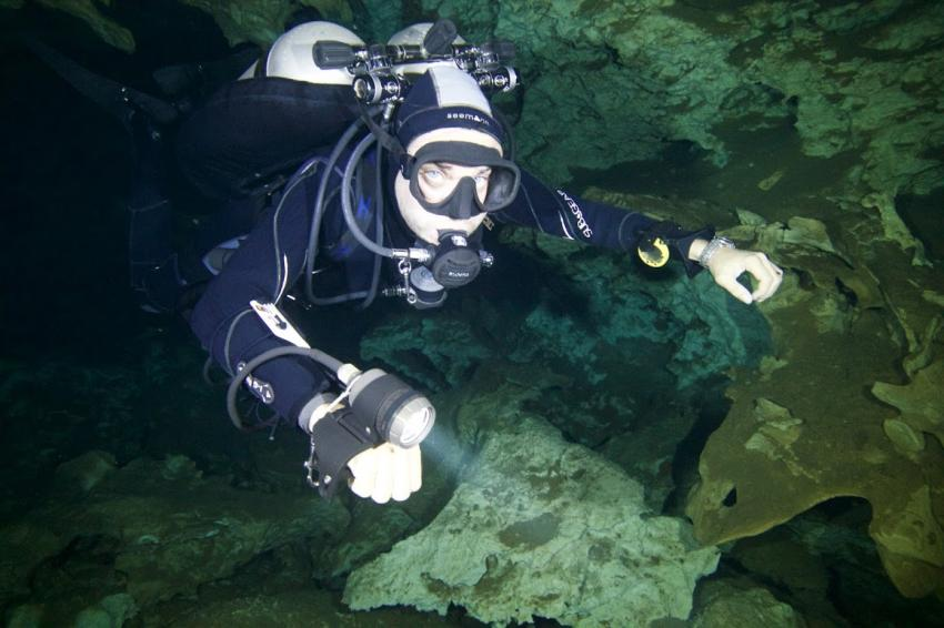 Cavern Tour, Cavern Tauchen, Blue Motion Diver, Playa del Carmen, Mexiko