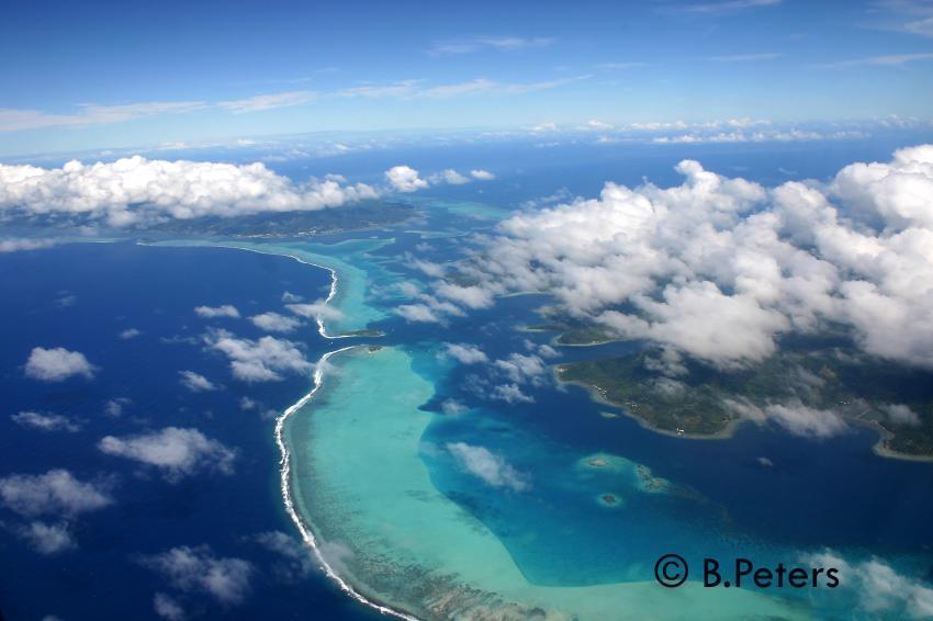 Moorea, Moorea und Fakarava,Französisch-Polynesien,Inseln,Vogelperspektive