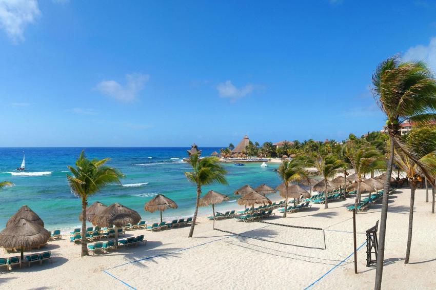 Hotelstrand , Pro Dive Mexico, Catalonia Riviera Maya & Yucatan Beach, Puerto Aventuras, Mexiko