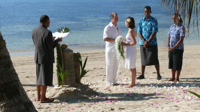 ...wo schon tüchtig geheiratet wird...