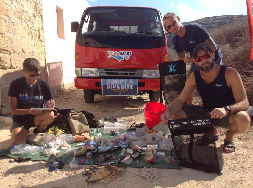 Inlandsea Clean-Up, Inlandsea, Gozo, Project Aware, Clean-Up, Dive Smart Gozo, DiveSmart Gozo, Malta