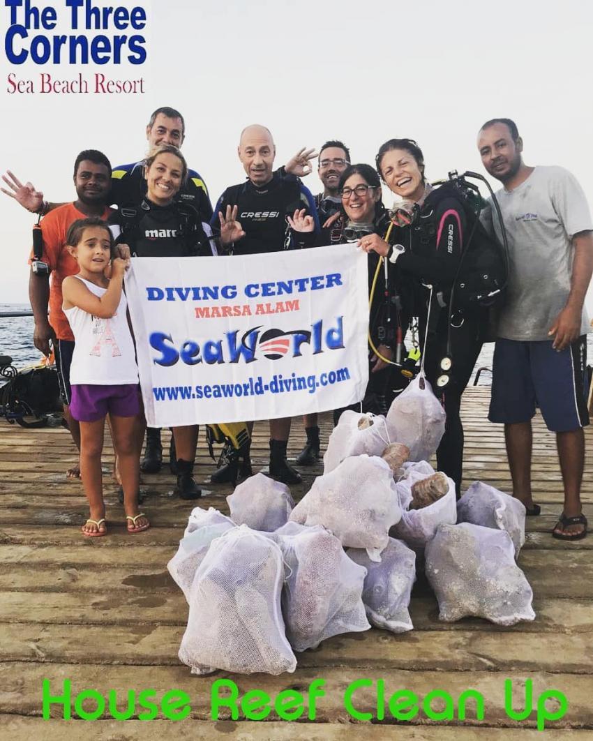 clean up, clean up house reef three corner sea beach, Sea World Diving Center, Marsa Alam, Ägypten, Marsa Alam und südlich