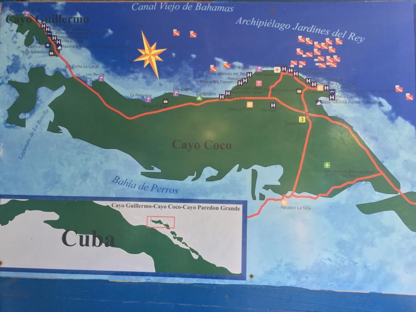 Tauchplätze, Blue Diving, Cayo Coco, Kuba