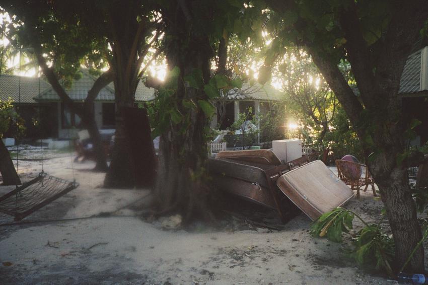 Lohifushi  ( Nord Male Atoll ) Nach der Welle, Lohifushi,Malediven