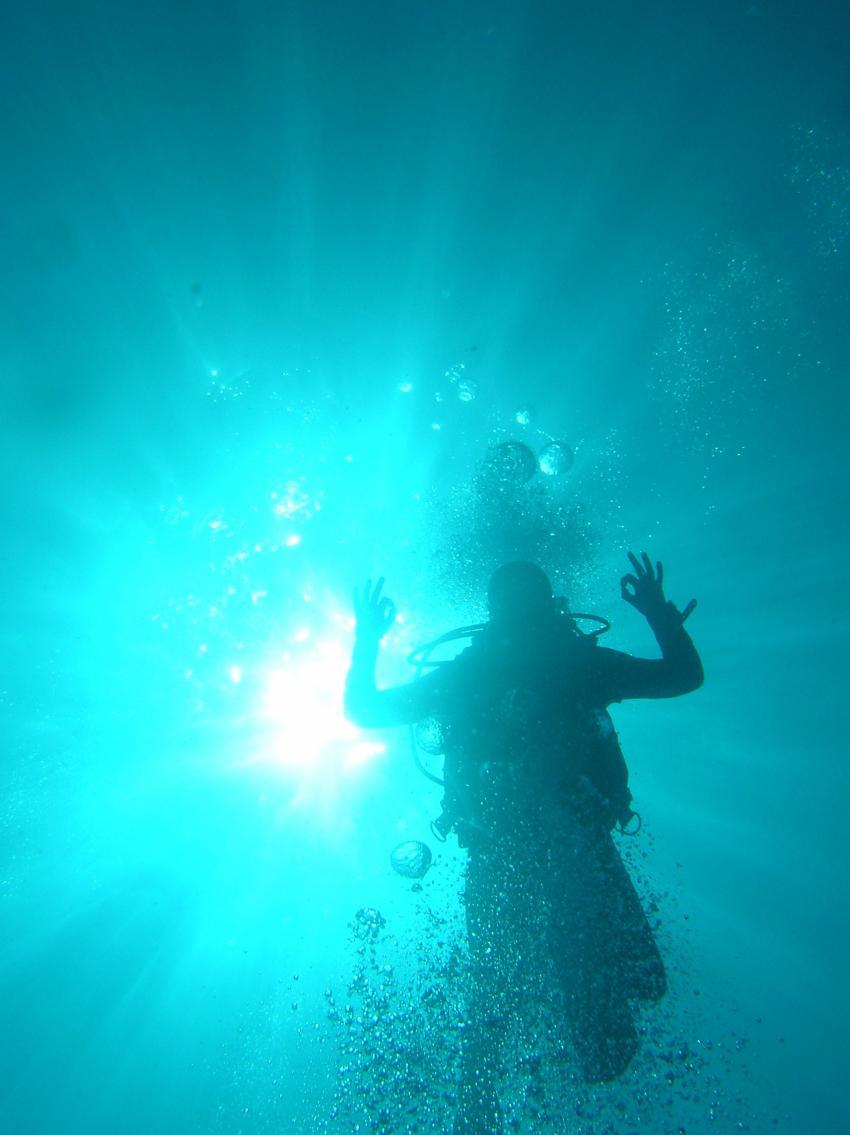 super klares Wasser am Blue Hole