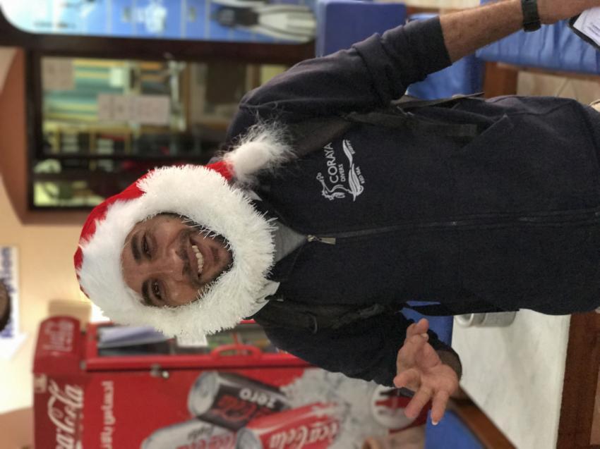 Merry Christmas , Eid Divemaster, Coraya Divers, Coraya Beach, Marsa Alam, Ägypten, Marsa Alam und südlich