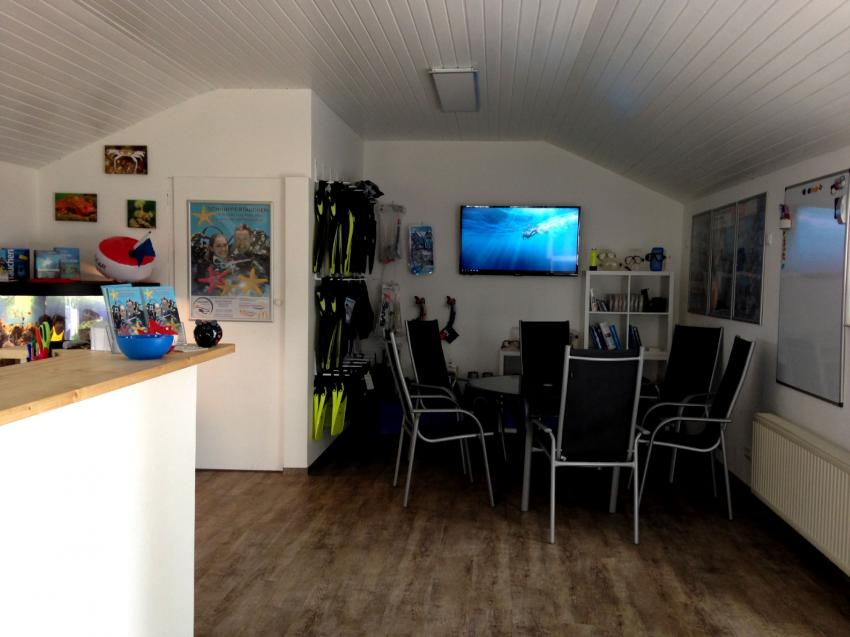 Office und Shop, Tauchen Südstrand, Fehmarn, Deutschland, Schleswig-Holstein