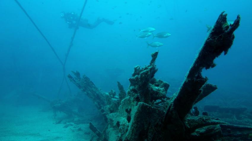 Boot oder so..., Schiffswrack, Daivoon Dive Center, Lanzarote, Costa Teguise, Spanien, Kanarische Inseln