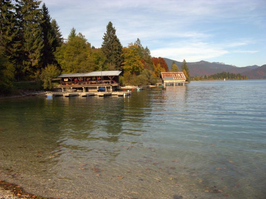 Walchensee, Einsiedl (Bucht), Walchensee. Einsiedl,Bayern,Deutschland,Bucht,Gasthof