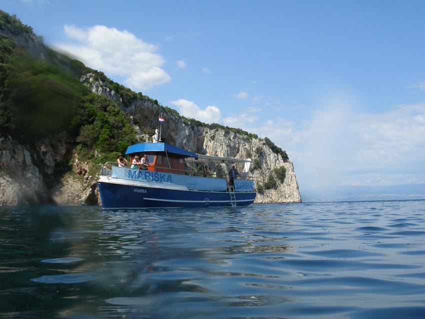 Ankerbucht und unser Boot