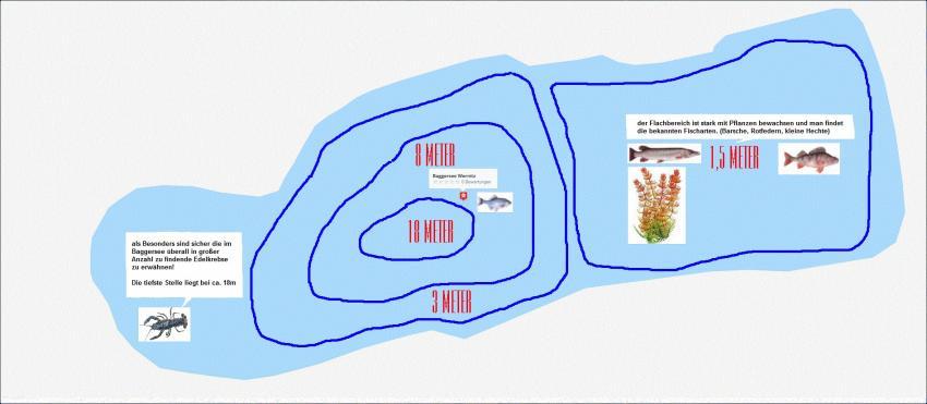 Tauchkarte Baggersee Wernitz, Baggersee Wernitz, Deutschland, Sachsen-Anhalt